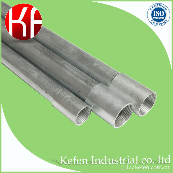 "1"" pre-galvanized steel pipe/BS31 Electrical Steel Conduit"