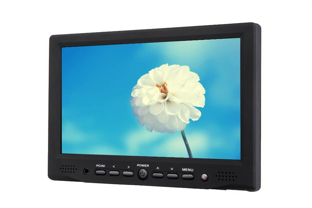 Cheap 7inch lcd touchscreen monitor with HDMI VGA remote control