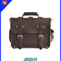 Classic Vintage Handmade Mens Leather Briefcase