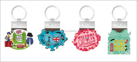 2016 Custom promotional England london souvenir PVC keychains