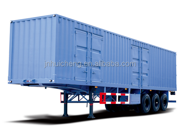 HC 60T 3 axles iso closed cargo transport van semi trailer 12R22.5 tire low price for sale