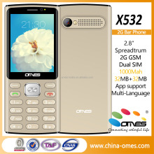 2.4 inch 2G quad bands dual sims big button, slim qwerty keypad mobile phone