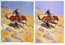 Impressionism handmade cowboy painting good price