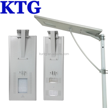 50w 65w 90w high power Waterproof IP68 illuminated Led solar street light all in one 5 years warranty with outdoor cctv camera