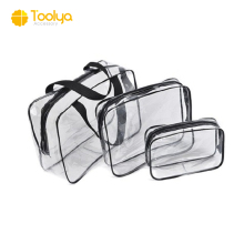 3piece/set Cheap Clear Zipper PVC Bag Travel waterproof Cosmetic Makeup Bag