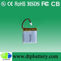 High quality lipo battery 3.7v 400mah li-ion battery/li-polymer battery