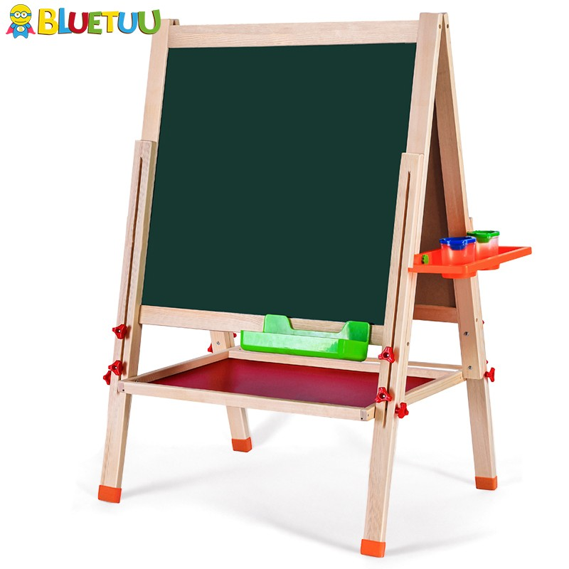 Factory wholesale all-in-one toys junior art kids easel board with paper roll