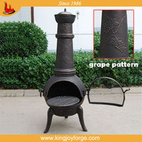 cast iron pizza oven chiminea with bbq grill