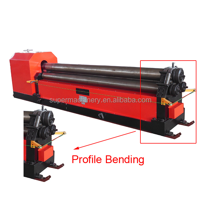 W11 Sheet Metal Plate Mechanical 3 rollers Roll Bending Machine