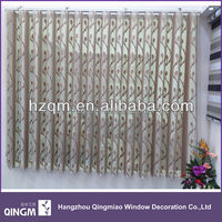 QINGM 100% polyester vertical blinds with hanas style