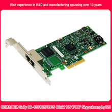 high speed intel pci-e express I350-T2 low profile bracket gigabit dual port optical network card
