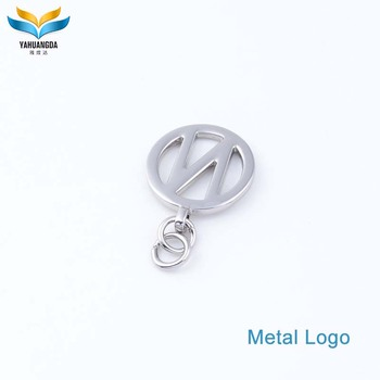New design custom made zinc alloy jewelry tags with engraved letter