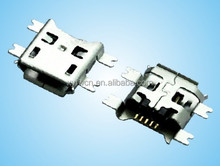 mid mount b type smt micro 5 pin connector / micro usb female connector pcb
