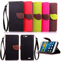 Case for Huawei G7 , Hot Selling High Quality PU Leather Flip Cover Wallet Case for Huawei G7 with Hand Strap