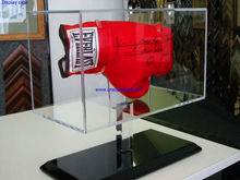 Customized acrylic display case for boxing glove