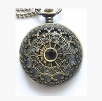 Unique Spider web fashion pocket watch with golden face in it , for man , for gentleman, Factory direct sale!