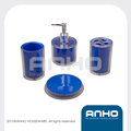 Durable plastic bathroom set 4 piece a set