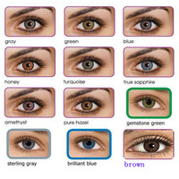 2016 3-tone color contact lenses 12 colors / freshlook / ready stock / wholesale