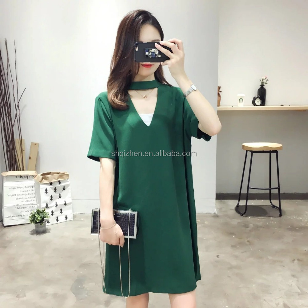 Ladies fashion new design <strong>dress</strong> short sleeve v neck summer <strong>dress</strong> women fashion alibaba <strong>dresses</strong>