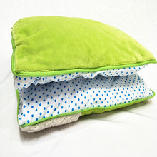 blanket that folds into pillow with green