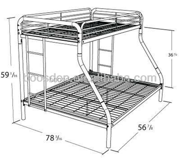 cheap single up and trouble down iron triple bunk bed BSD-453165
