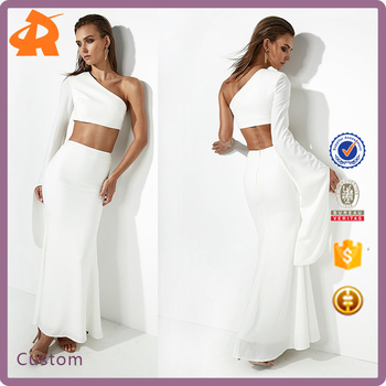custom make your ladies bodysuit sexy,high quality one shoulder plain white bodysuit women
