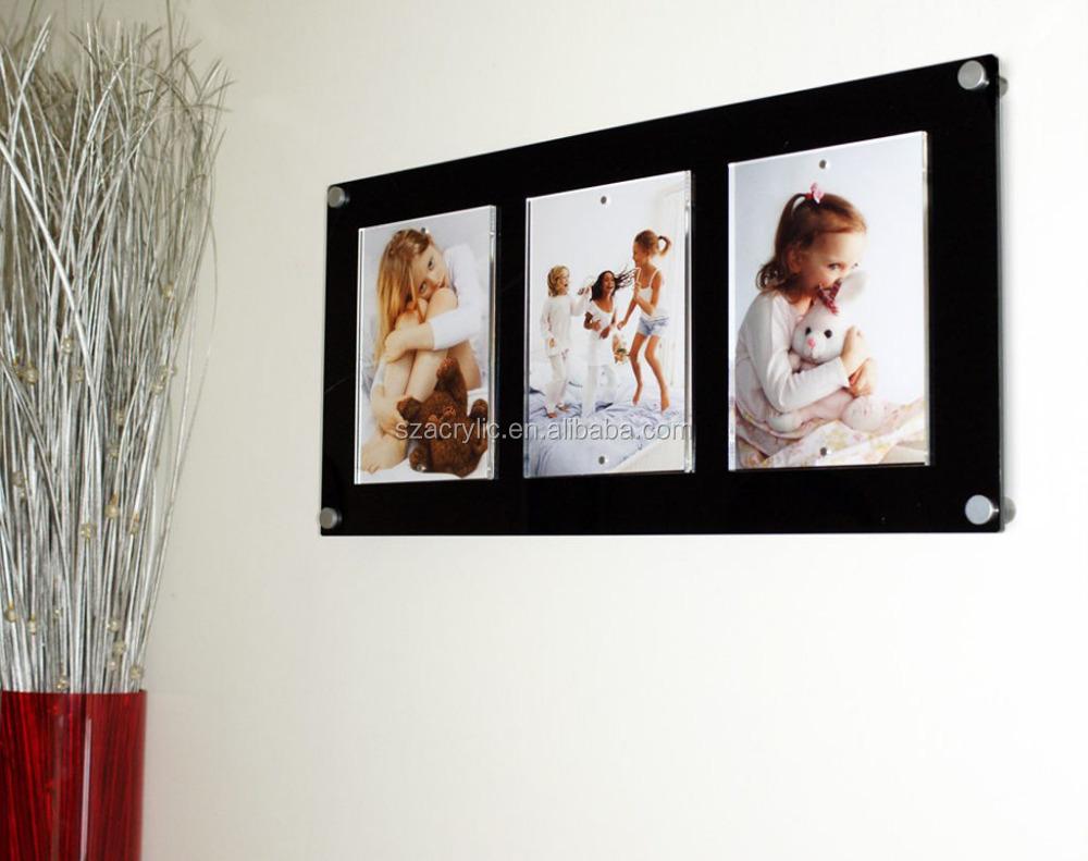 Diy frameless poster frame