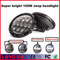 Super bright 105W 7 inch led headlight kit with angel eyes for Jeep Wrangler JK