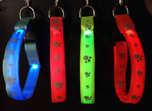 best selling! nylon colorful jacquard flashing pet collars lace collar