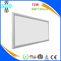 Living room 120degree rgb 48w 72W grow led recessed ceiling panel light 1200x600