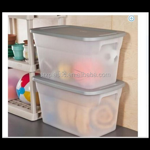 30 Gallon Plastic Containers Storage Moving Box Bin Tote Lids,custom plastic storage box tools manufacturer
