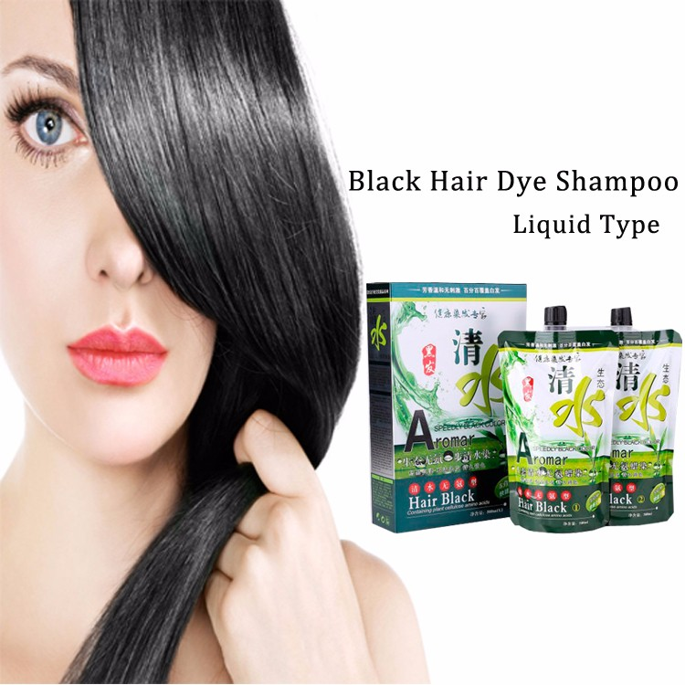 Fast effect natural instant no PPD brand names ideas black hair color shampoo