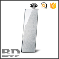 Environmental friendly 100x300x8 mm metallic crystal glass mosaic tile