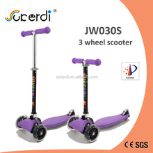 CE tested child foldable slamm scooter kids pedal stand up tri scooter for sale