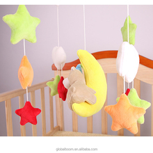 Baby Music Spinning Cloth Bed Hang Toys Baby Bed Toys Moon Star Hanging Bed toys