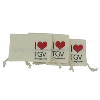 Eco Friendly promotional small cotton drawstring pouch