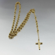 Gold long stainless steel women's fashion beads chain necklace