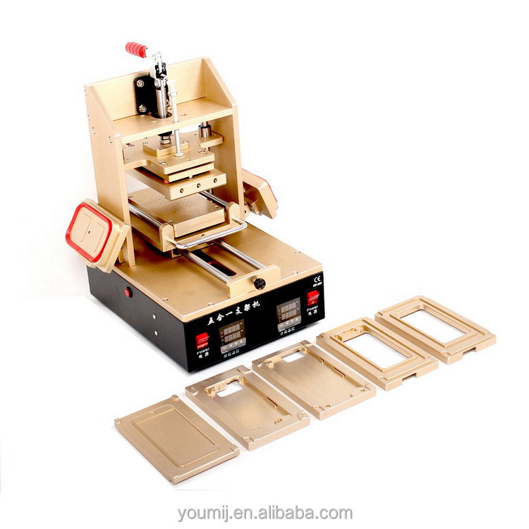 5 in 1 Multifunction Bezel Middle Frame Laminating Machine + Vacuum LCD Separator + Glue Remover + Frame Laminator + Preheater
