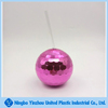 rose red disco ball cup with straws for wedding and party