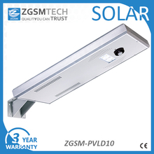 10w Solar Panel Motion sensor Solar Led Street Light Price