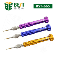BEST #665 5-in-1 Slotted Flat PH000,T5,T6, Pentalobe 0.8 changeable screwdriver