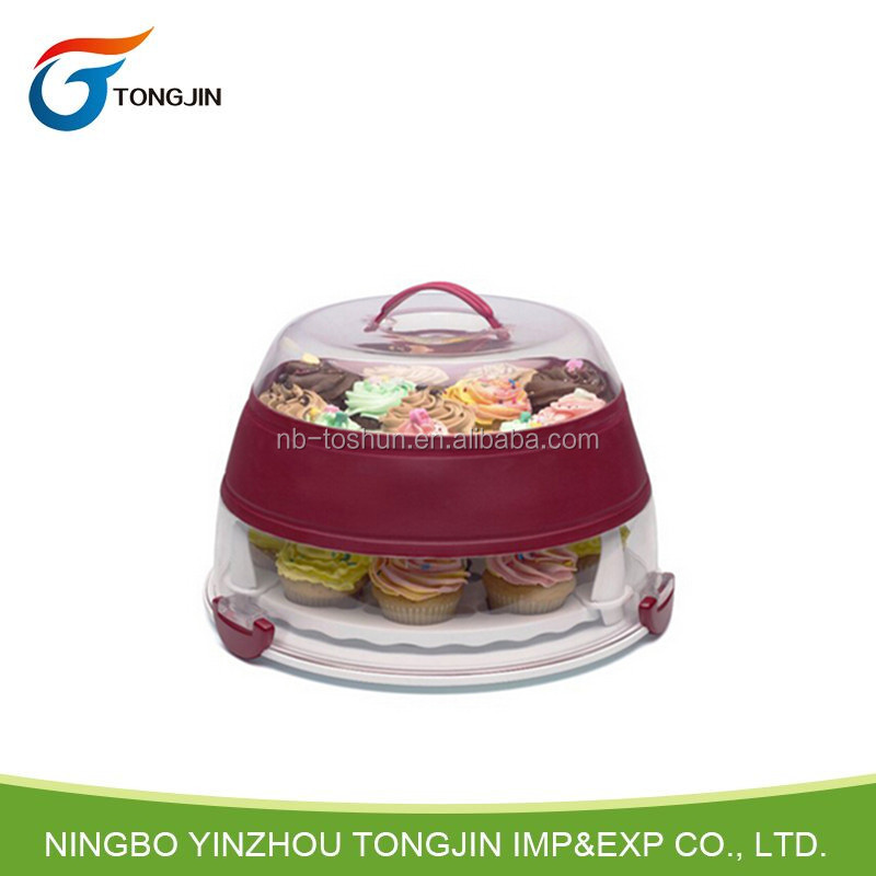 Food grade foldable cupcake carrier