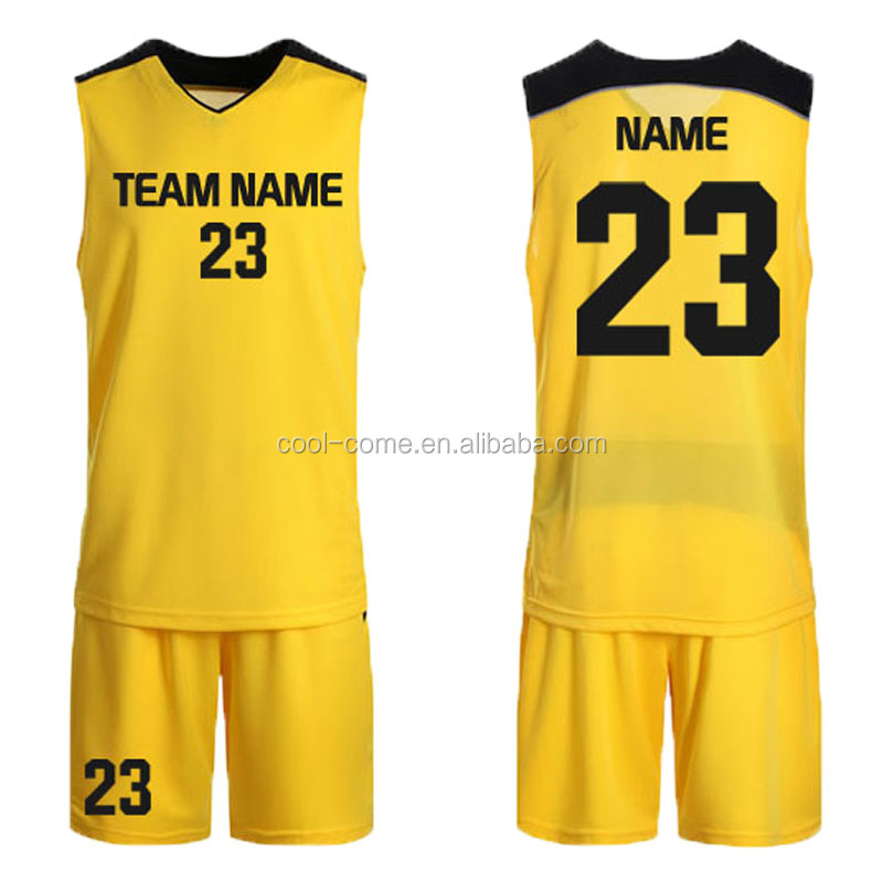 2016 color yellow basketball jersey uniform design