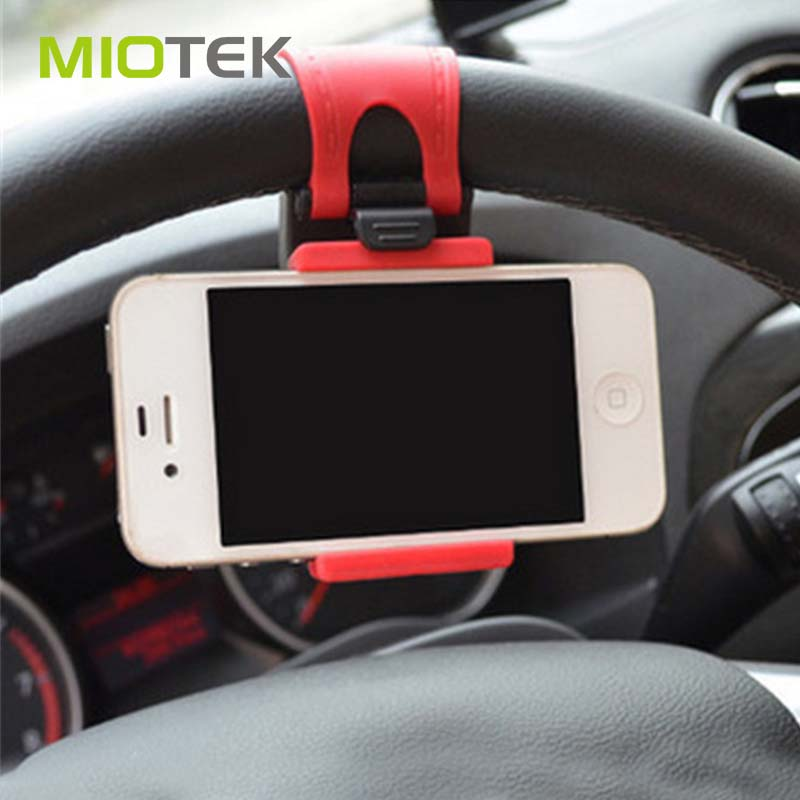 2017 Wholesale mobile phone accessories anti-theft display holder car steering wheel phone holder