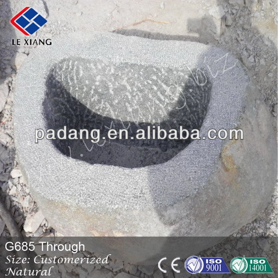 Garden troughs sale, black basalt trough