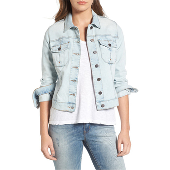 Top selling plain denim jacket humen clothing women apparel