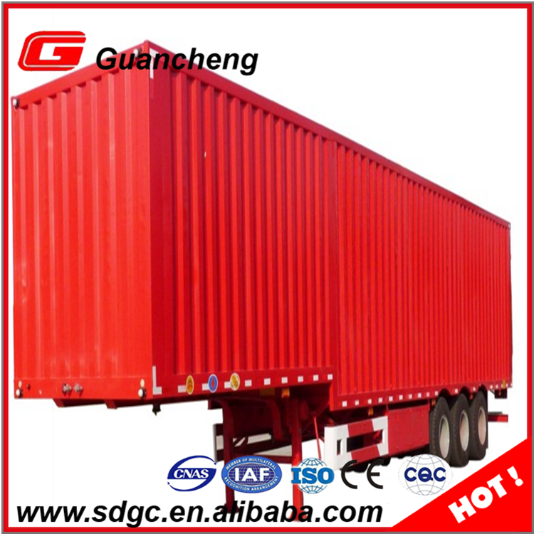 Hot sale 45 feet tri-axle van refrigerated semi trailer cargo enclosed box truck trailer price
