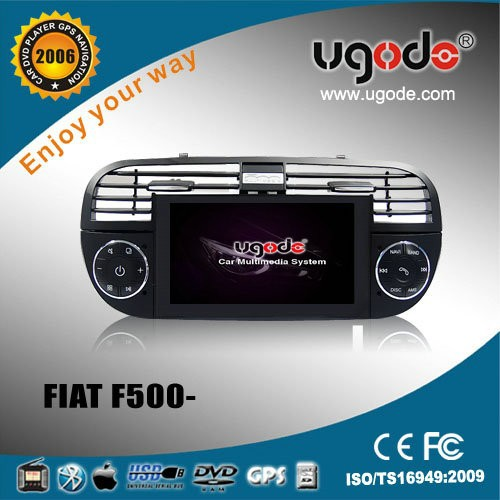 wholesale CE certificate car dvd for Fiat 500 2 din car dvd car radio with gps