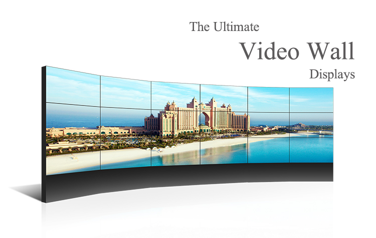 3x3 floor stand video wall Ultra Thin Bezel Shopping Mall Video Wall