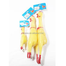 Novelty plastic chicken toys squeeze chicken toy